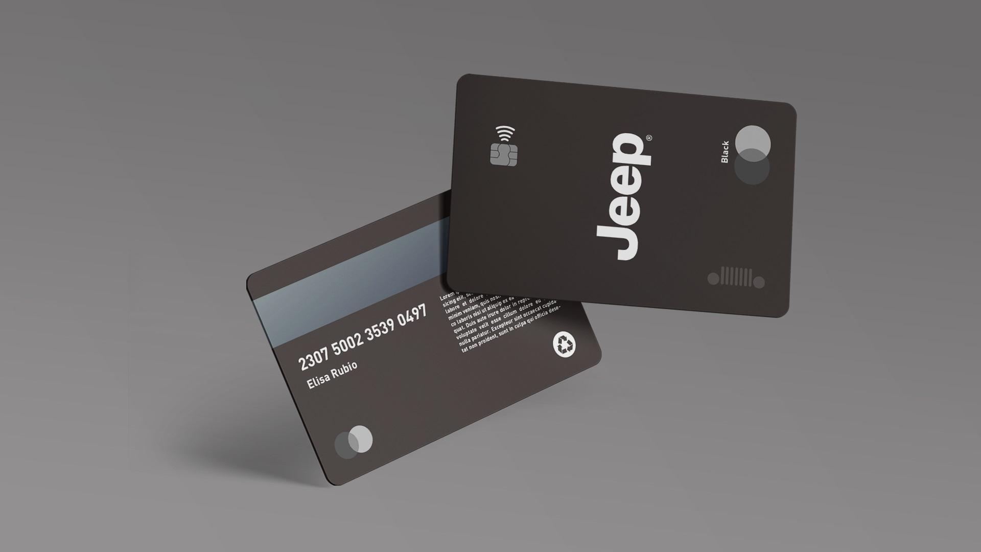 Cartão de crédito da Jeep.