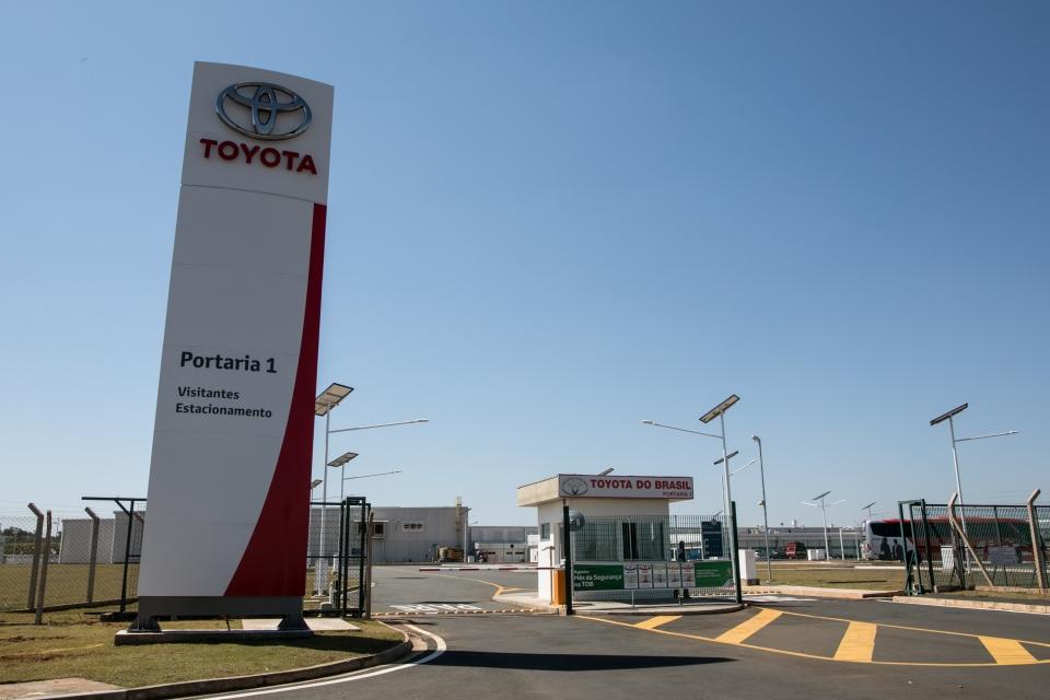 Portaria da fábrica da Toyota em Porto Feliz, São Paulo