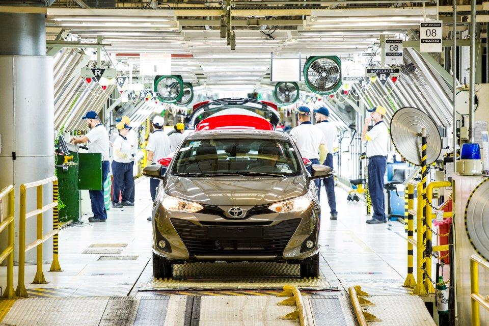 Toyota Yaris na linha de produção em Sorocaba